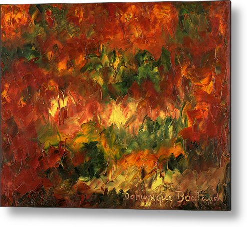 Abstract Metal Print featuring the painting Le Feu Et La Vie 2 by Dominique Boutaud