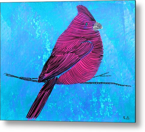Bird Metal Print featuring the painting Lib-577 by Mr CAUTION