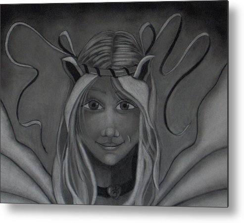 Fairy Metal Print featuring the drawing Light Up The Darkness by Tori Reynolds