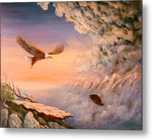 Connie Tom Metal Print featuring the painting Lo I Am With You Always by Connie Tom