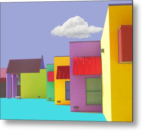 Abstract Metal Print featuring the painting Lv Schoolhouse 1 by Jackie Jacobson