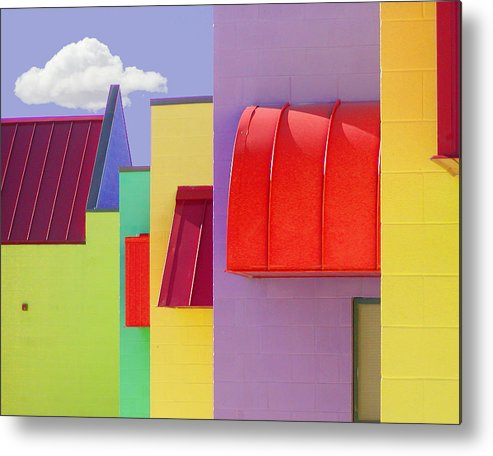 Abstract Metal Print featuring the painting Lv Schoolhouse 2 by Jackie Jacobson