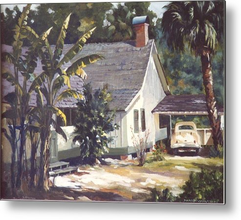 House Metal Print featuring the painting M. K. Rawlings House by Marion Hylton