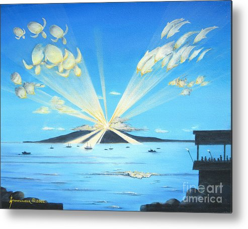 Maui Metal Print featuring the painting Maui Magic by Jerome Stumphauzer