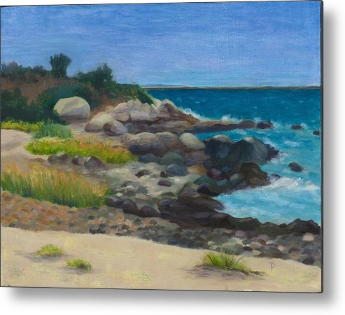 Landscape Metal Print featuring the painting Meigs Point by Paula Emery