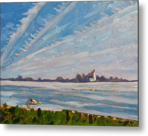803 Metal Print featuring the painting Miramachi Contrails by Phil Chadwick