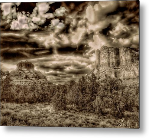 Hope Metal Print featuring the photograph Monolith by Michael Ahlrichs