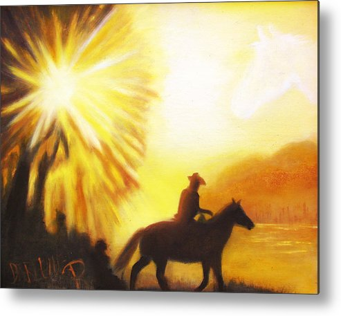 Sunrise Metal Print featuring the painting Morning Ride by Darlene Green