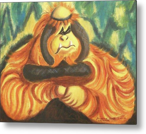 Mother Metal Print featuring the painting Motherly Concern by Suzanne Marie Leclair