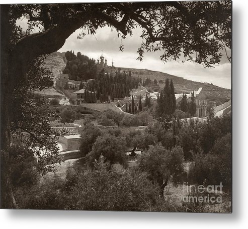 1930 Metal Print featuring the photograph Mount Of Olives by Granger