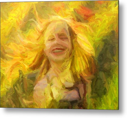 Children Metal Print featuring the digital art Nature's Joy by Caito Junqueira