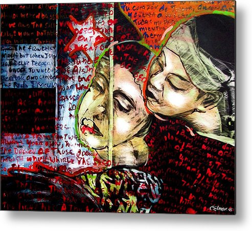 Metal Print featuring the mixed media Neruda Love Poem by Chester Elmore
