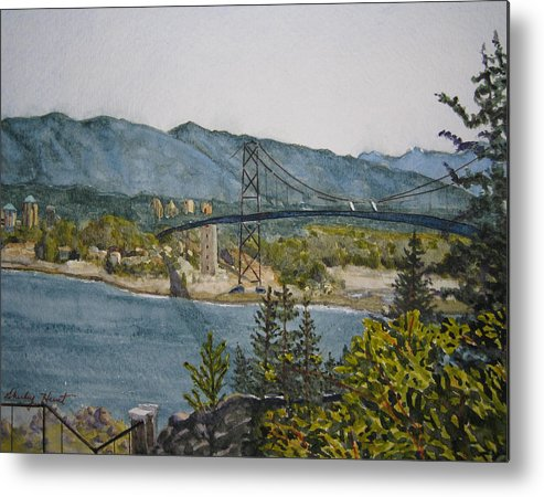 Landscape Metal Print featuring the painting North And West by Shirley Braithwaite Hunt