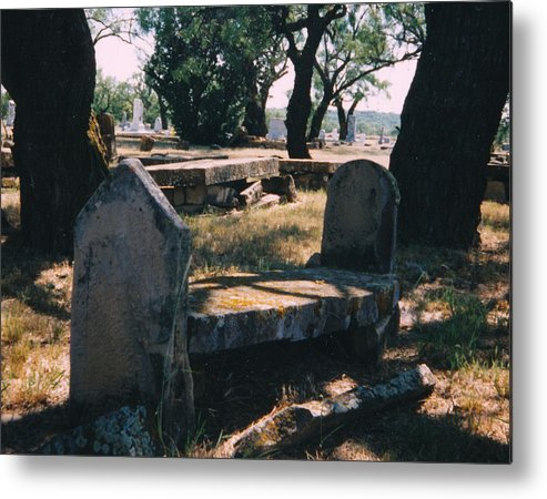 Grave Old Cementery Rocks Metal Print featuring the photograph Old Grave by Cindy New