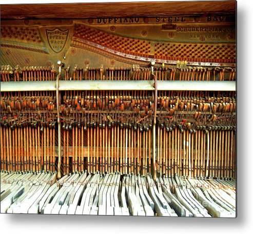 Piano Metal Print featuring the photograph Old Hammer And Keys by Joan Ouchida