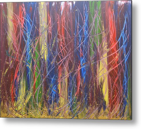 Abstract Metal Print featuring the painting Olympiads by Jolene Courtemanche