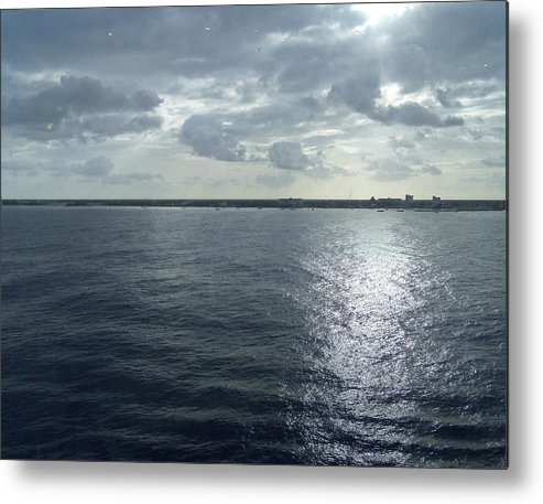 Digital Metal Print featuring the painting Open Water by Vell Thomas