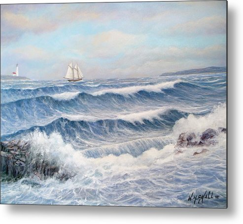 Seascape Metal Print featuring the painting Outward Bound by William H RaVell III