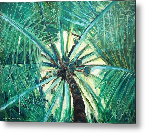 Palm Tree Metal Print featuring the painting Palm Tree by Gina De Gorna