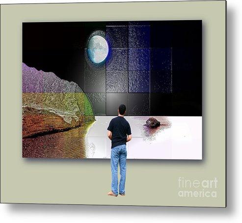 Pollara Metal Print featuring the digital art Paper Moon by Ayesha DeLorenzo