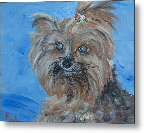 Dog Metal Print featuring the painting Pepper by Pete Maier