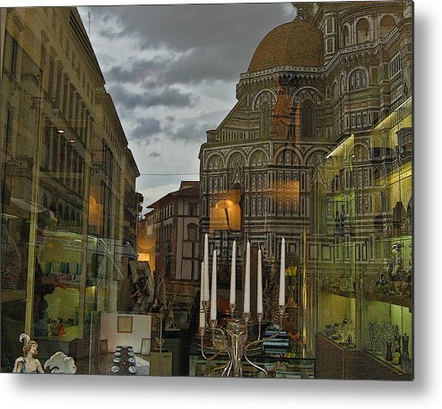 Italy Metal Print featuring the photograph Piazza Del Duomo by Sonia Melnikova-Raich