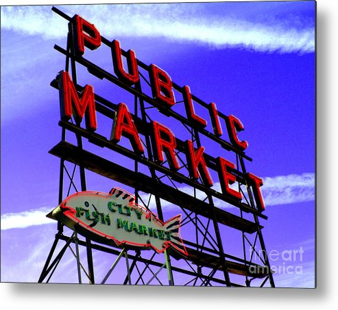 Pike's Place Market Metal Print featuring the photograph Pike's Place Market by Nick Gustafson