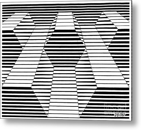 Art Metal Print featuring the drawing Plate 20 by Johannes VON GUMPPENBERG