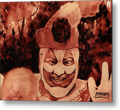 John Wayne Gacy Metal Print featuring the painting Pogo Painted In Human Blood by Ryan Almighty