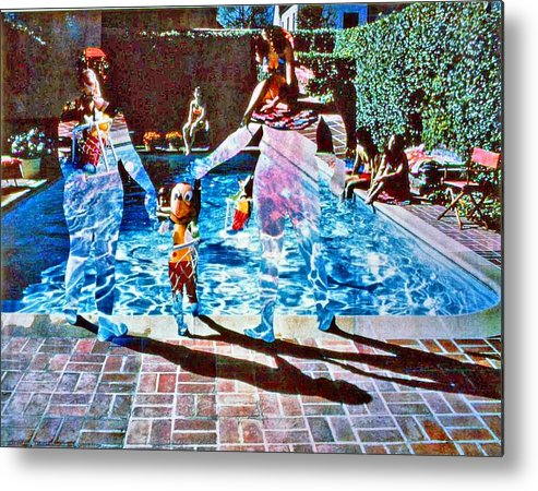 Pool Metal Print featuring the photograph Pool Party Sold by Randy Sprout
