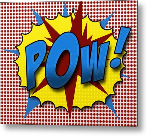 Comic Metal Print featuring the digital art Pop Pow by Suzanne Barber