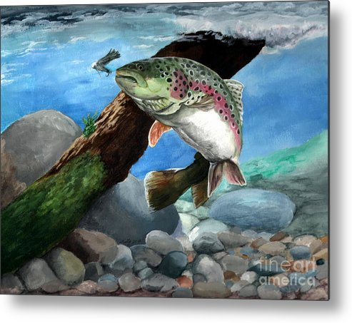 Fish Metal Print featuring the painting Rainbow by Kathleen Kelly Thompson