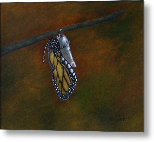Insects Metal Print featuring the painting Rebirth by Rebecca Fitchett