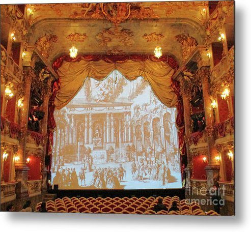 Munich Metal Print featuring the photograph Residenz Theatre 7 by Randall Weidner