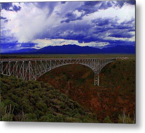 Rio Grande Metal Print featuring the photograph Rio Grande Gorge Bridge by Neil McCarver