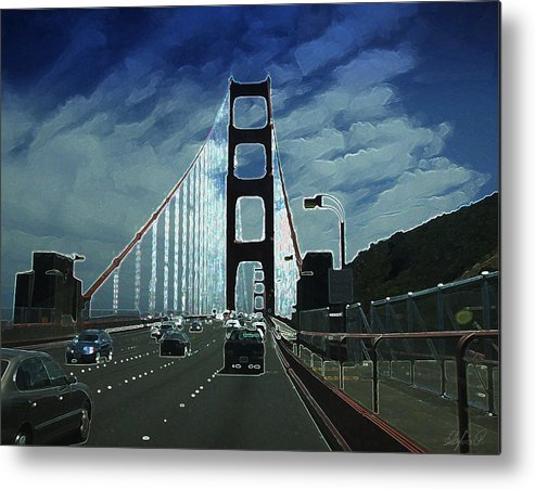 Golden Gate Metal Print featuring the digital art Road Trip by Sylvia Pekarek