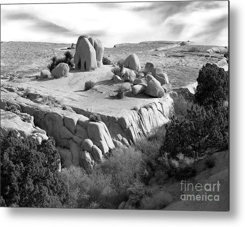 Original Metal Print featuring the photograph Sandstone Plateau by Christian Slanec