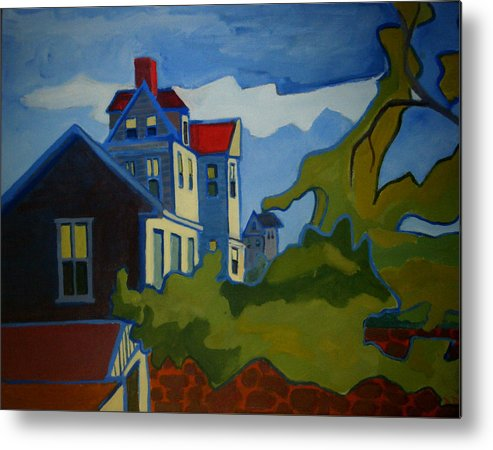 Buildings Metal Print featuring the painting Sarah Paul by Debra Bretton Robinson