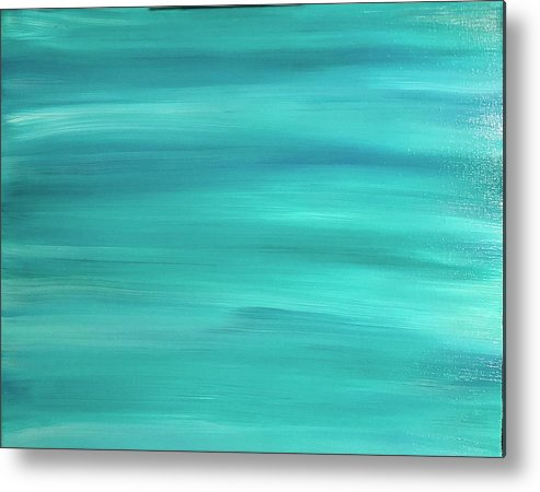 Abstract Metal Print featuring the painting Sea Blue by Marcus Mabry