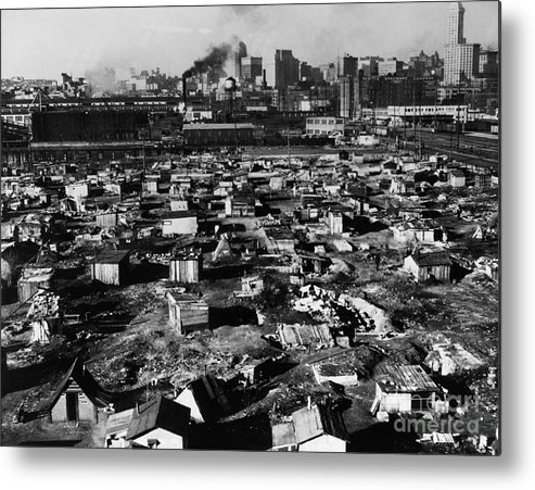 1933 Metal Print featuring the photograph Seattle: Hooverville, 1933 by Granger