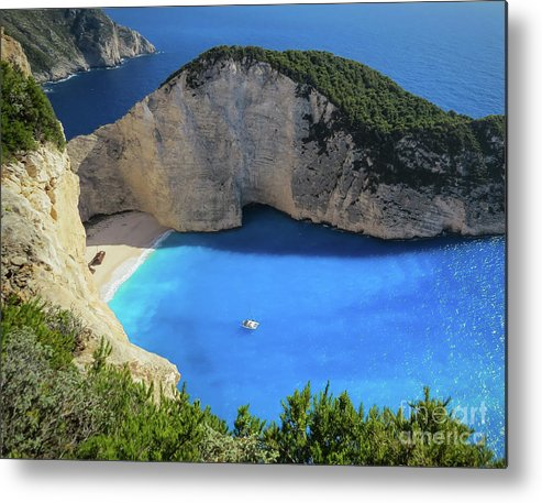 Secluded Beach Metal Print featuring the photograph Secluded Beach by KaFra Art