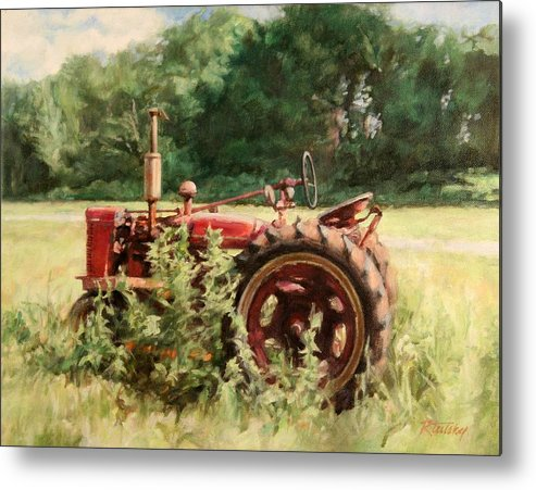 Tractor Metal Print featuring the painting Seen Better Days by Robert Tutsky