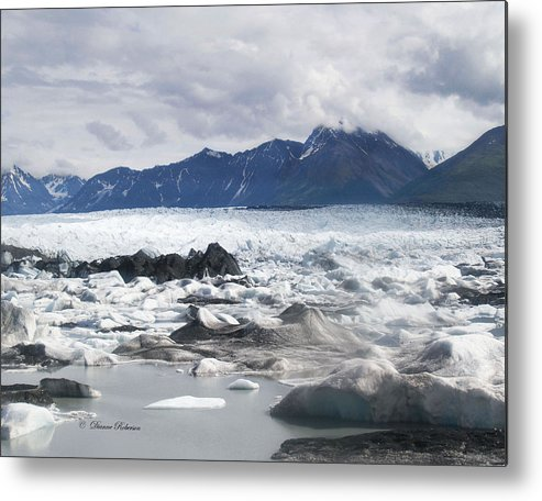 Alaska Metal Print featuring the photograph September's Knik Glacier by Dianne Roberson