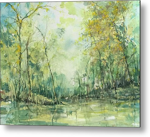 Watercolour Metal Print featuring the painting September's Silence by Robin Miller-Bookhout