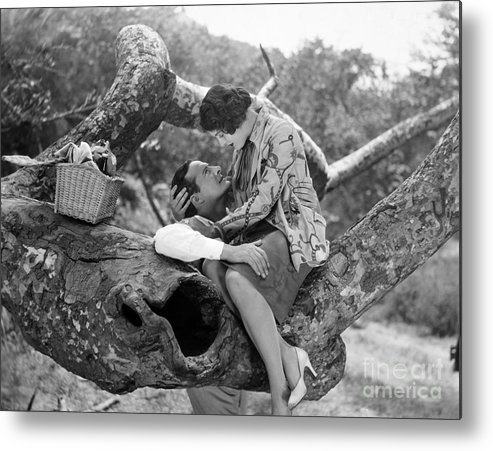 -picnic- Metal Print featuring the photograph Silent Film Still: Picnic by Granger