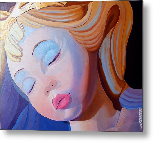Doll Metal Print featuring the painting Sleeping Beauty by JoeRay Kelley