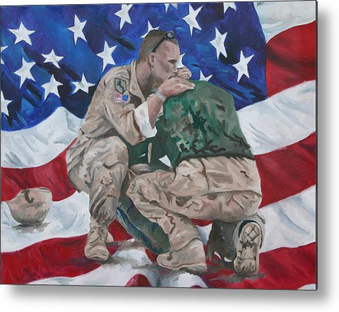 Soldiers Metal Print featuring the painting Soldiers by Travis Day