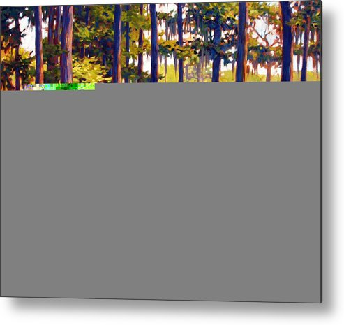 Marshes; Egrets; Low Country; Palmetto Trees Metal Print featuring the painting Southern Breeze by Ben Kiger