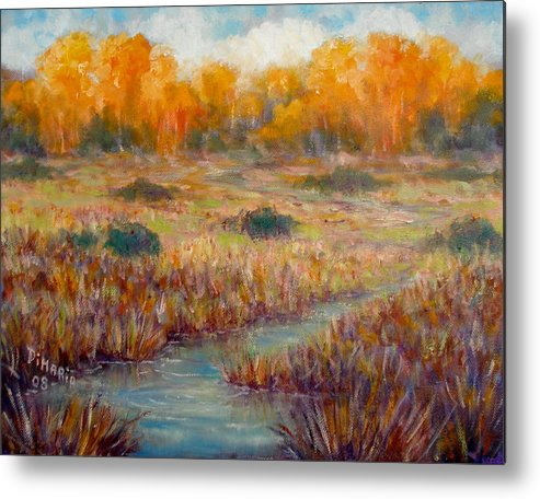 Realism Metal Print featuring the painting Southwest Autumn by Donelli DiMaria