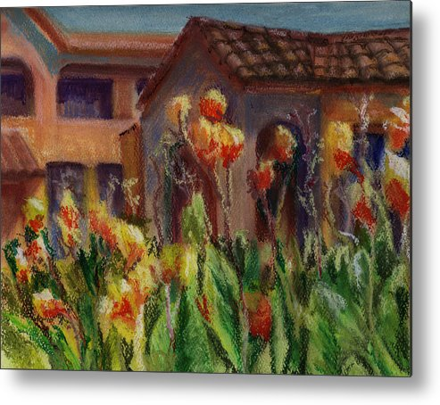 House Metal Print featuring the painting Spanish Abode by Patricia Halstead